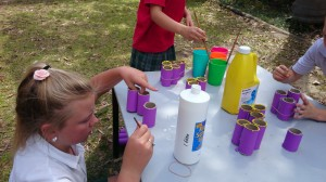Lucy did a fantastic job organising the other kids and explaining how to glue and paint the tubes together.